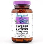 Bluebonnet L-Arginine / L-Ornithine 500 mg/250 mg 100 VCaps