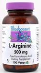 Bluebonnet L-Arginine 500 mg 100 Capsules