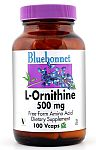 Bluebonnet L-Ornithine 500 mg 100 Capsules
