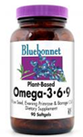 Bluebonnet Plant-Based Omega-3•6•9 1,000 mg 90 Softgels
