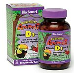 Bluebonnet Super Earth Rainforest Animalz® Vitamin D3 400 IU 90 Chewable Tablets