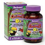Bluebonnet Super Earth Rainforest Animalz® Vitamin D3 400 IU 90 Chewable Tablets
