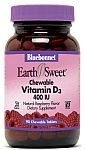Bluebonnet EarthSweet® Chewable Vitamin D3 400 IU 90 Tablets