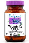 Bluebonnet Vitamin D3 5,000 IU 120 VCaps