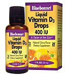 Bluebonnet Vitamin D3 Drops 400 IU 1 Ounce
