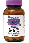 Bluebonnet Vitamin B-6 200 mg 90 Vcaps