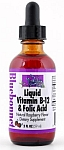 Bluebonnet Liquid Vitamin B-12 & Folic Acid Natural Raspberry Flavor  2 Ounce