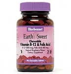 Bluebonnet EarthSweet® Chewable Vitamin B-12 & Folic Acid 1,000 mcg/400 mcg 180 Chewable Tablets