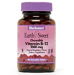 Bluebonnet EarthSweet® Chewable Vitamin B-12  2,000 mcg 90 Tablets