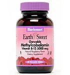Bluebonnet EarthSweet® Methylcobalamin Vitamin B-12  5,000 mcg 60 Chewable Tablets