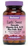 Bluebonnet EarthSweet® Chewable Vitamin B-6, B-12 & Folic Acid 60 Tablets