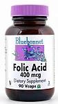 Bluebonnet Folic Acid 400 mcg 90 Vcaps