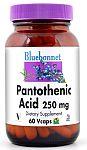 Bluebonnet Pantothenic Acid 250 mg 60 Vcaps