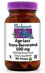 Bluebonnet Age-Less™ Trans-Resveratrol 500 mg 60 Vcaps