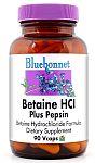 Bluebonnet Betaine HCl Plus Pepsin 90 Vcaps