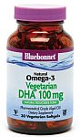 Bluebonnet Natural Omega-3 Vegetarian DHA 100 mg 60 Softgels