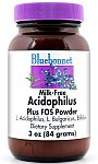 Bluebonnet Milk-Free Acidophilus Plus FOS Powder 3 Ounces (84gm)