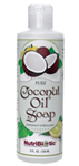 Nutribiotic® Coconut Oil Soap Peppermint & Bergamot 8 oz (236 ml)