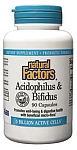 Natural Factors Acidophilus & Bifidus w/ Goat Milk - 10 Billion Active Cells  Double Strength