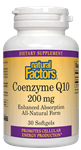 Natural Factors Coenzyme Q10 200mg   30 Softgels