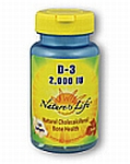 Natures Life  Vitamin D 2,000 IU  120 Softgels