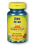 Natures Life® Zinc 30 mg 100 Capsules