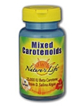 Natures Life  Mixed Carotenoids 25,000 IU Beta Carotene  50 Softgels
