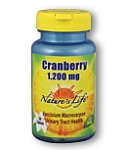 Natures Life  Natures Life  Cranberry Concentrate 1200mg  30 Tablets