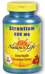 Natures Life Strontium 680 mg  60 Tablets