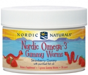 Nordic Naturals Omega-3 Gummy Worms 30 Count