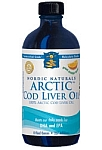 Nordic Naturals ARCTIC Cod Liver Oil Orange Flavor 8 fl oz