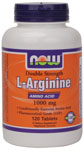 NOW Foods L-Arginine 1000 mg Double Strength 120 Tablets