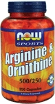 NOW Foods L-Arginine & Ornithine 500/250mg  250 Capsules