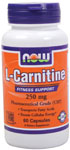 NOW Foods L-Carnitine 250 mg 60 Capsules