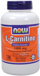NOW Foods L-Carnitine 1,000 mg 100 Tablets