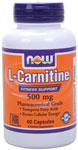 NOW Foods L-Carnitine 500 mg 60 Capsules