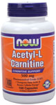 NOW Foods Acetyl L-Carnitine 500 mg 100 Capsules