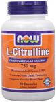 NOW Foods L-Citrulline 750 mg 90 Capsules