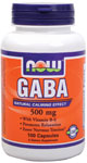 NOW Foods GABA with B-6 500 mg 100 Capsules