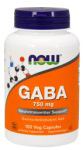 NOW Foods GABA 750nmg 100 VCaps
