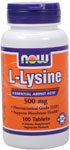 NOW Foods L-Lysine 500 mg 100 Tablets