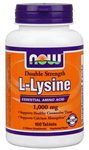 NOW Foods L-Lysine Double Strength 1,000 mg 100 Tablets