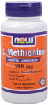 NOW Foods L-Methionine 500 mg 100 Capsules