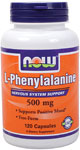 NOW Foods L-Phenylalanine 500 mg 120 Capsules