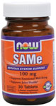 NOW Foods SAMe 100 mg 30 Tablets