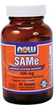 NOW Foods SAMe 400 mg 30 Tablets