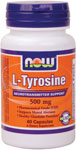NOW Foods L-Tyrosine 500 mg 60 Capsules