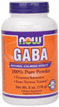 NOW Foods GABA Powder 100% Pure 6 oz. (170 g)