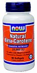 NOW Foods Beta Carotene 25,000 IU 90 Softgels