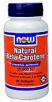 NOW Foods Beta Carotene 25,000 IU 90 Softgels
